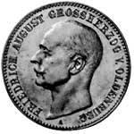 2 Mark Oldenburg Friedrich August 1900-1901 Sehr schön
