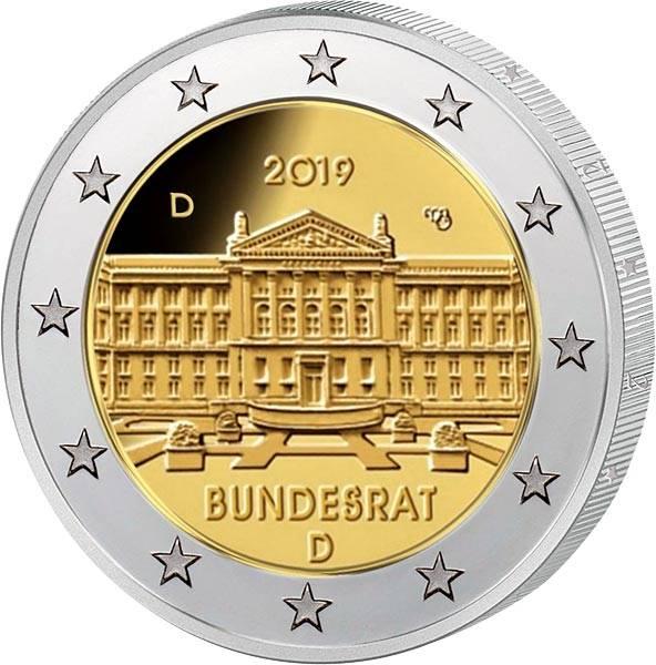 5 x 2 Euro BRD Bundesrat 2019