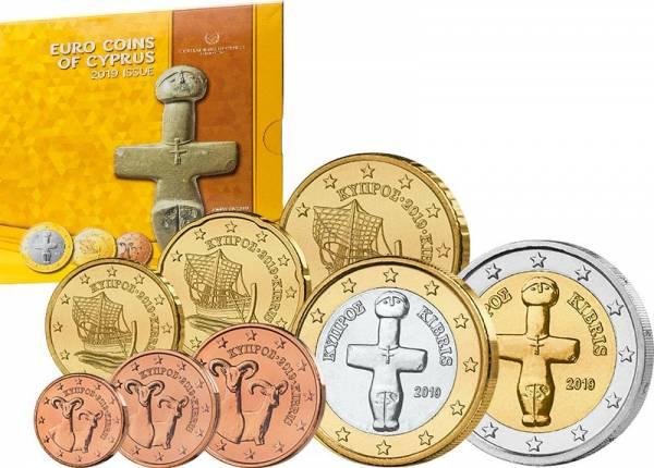 Euro-Kursmünzensatz Zypern 2019
