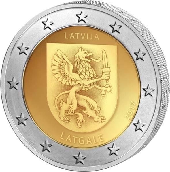 2 Euro Lettland Region Lettgallen 2017
