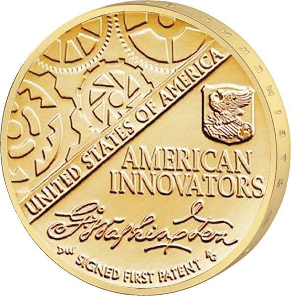 1 Dollar USA Unterzeichnung des ersten Patents 2019