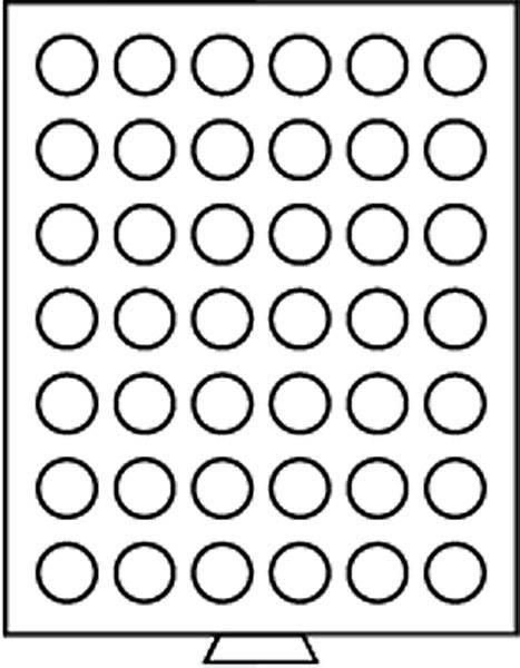 Münzbox mit 42 Fächern