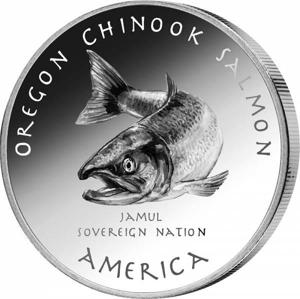 1 Dollar USA Native State Dollar Creek Königslachs Oregon 2021