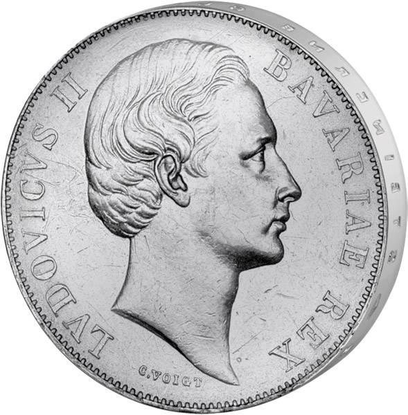 Vereinstaler Patrona Bavariae Ludwig II. 1866-1871 vorzüglich