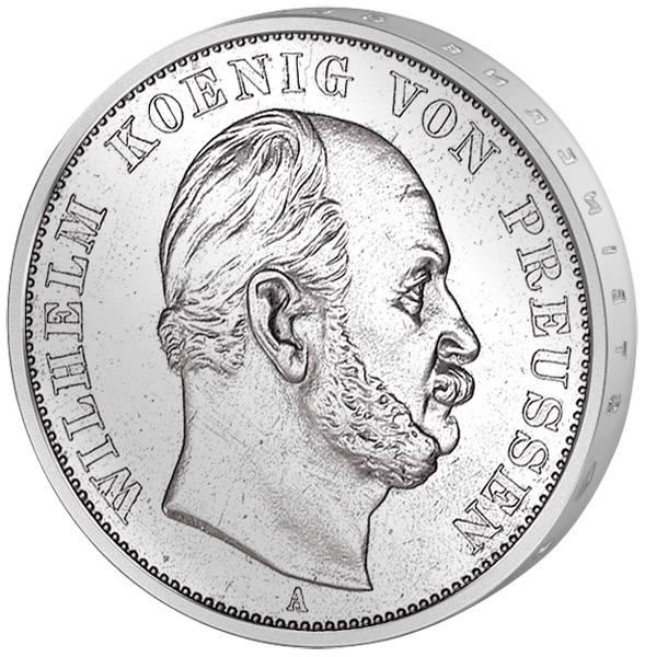 Vereinstaler Siegestaler Wilhelm I. 1871 Silber Vorzüglich