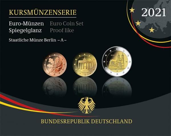 Euro-Kursmünzensätze BRD 2021 Polierte Platte
