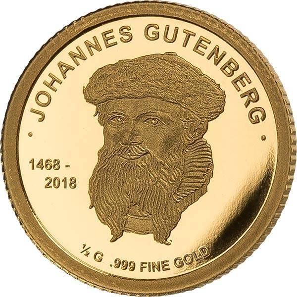 100 Francs Mali 550. Todestag Johannes Gutenberg 2018