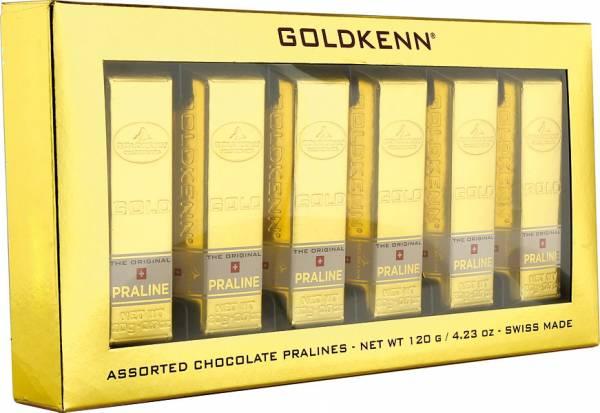 6 Mini-Schokoladen-Goldbarren