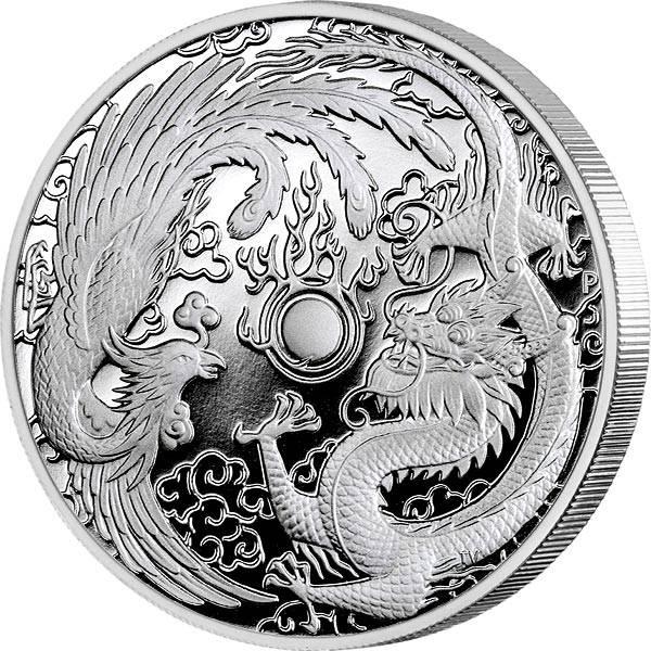 1 Unze Silber Australien Drache und Phoenix 2018