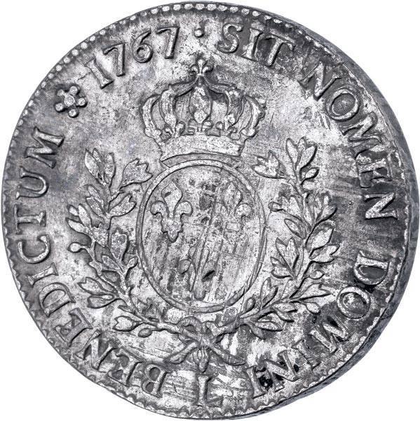 """1 Ecu au bandeau Frankreich """"König Ludwig XI. 1740-1773"""