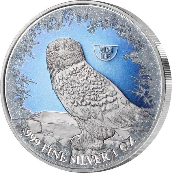 2 Dollars Niue Schnee-Eule 2019