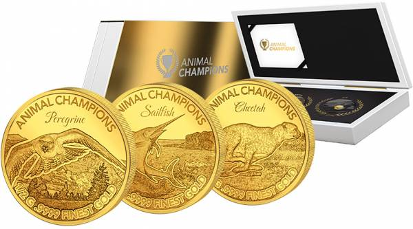 3 x 10 Dollars Salomonen Animal Champions