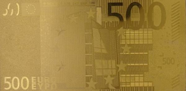 500 Euro BRD Goldfolien-Banknote