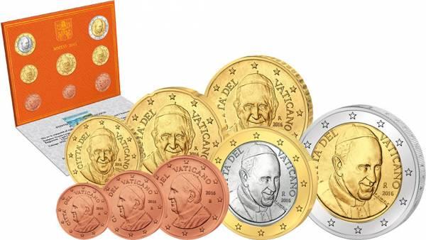 Euro-Kursmünzensatz Vatikan 2016 Ersttags-Edition