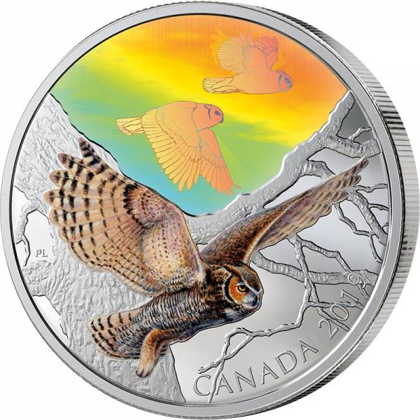 30 Dollars Kanada Vögel in Bewegung Virginia-Uhu 2019
