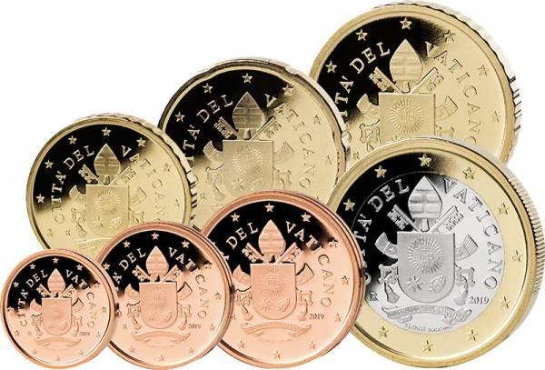 1 Cent - 1 Euro Kursmünzen Vatikan 2019