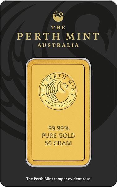 50 Gramm Goldbarren Australien Känguru
