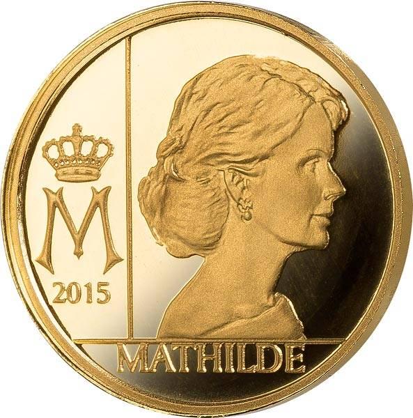 12,5 Euro Belgien Königin Mathilde 2015