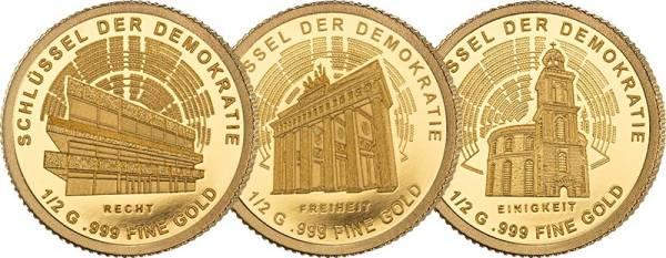 3 x 100 Francs Niger Schlüssel der Demokratie 2020