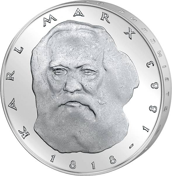 5 DM BRD  Karl Marx 1983 J vorzüglich