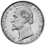 Taler Vereinstaler Ernst 1869 ss-vz