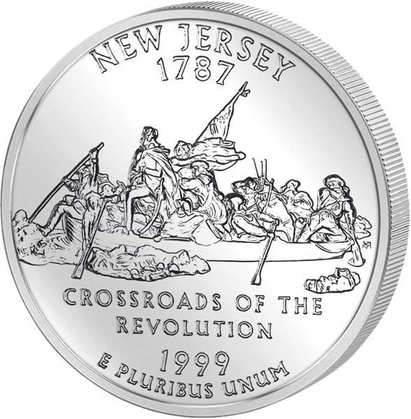 Quarter Dollar USA New Jersey 1999