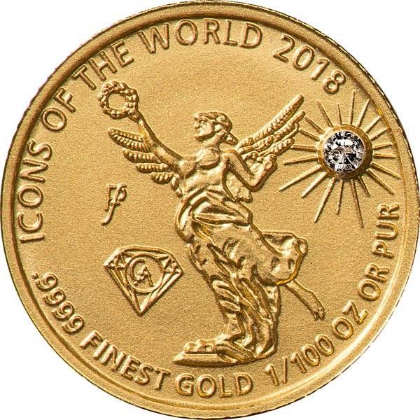 10 Francs Ruanda Gold Affordable Diamond Edition Libertad 2018