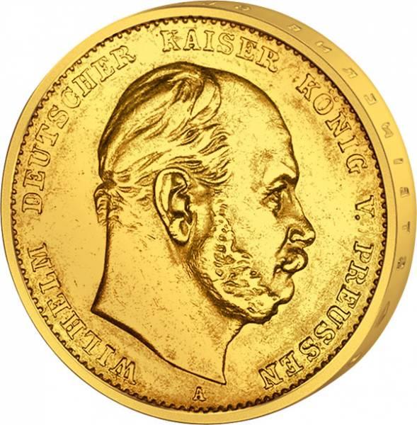 20 Mark Preußen Wilhelm I. 1871-1873 Sehr schön