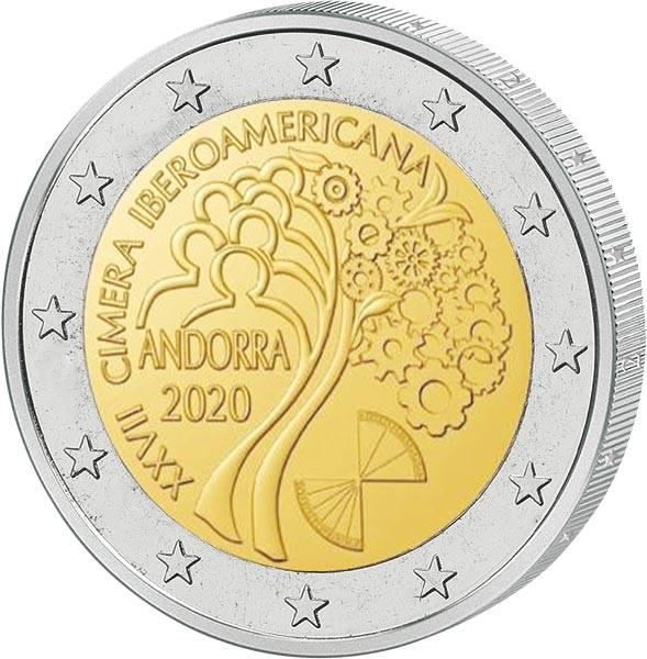 2 Euro Andorra XXVII. Iberoamerika-Gipfel 2020