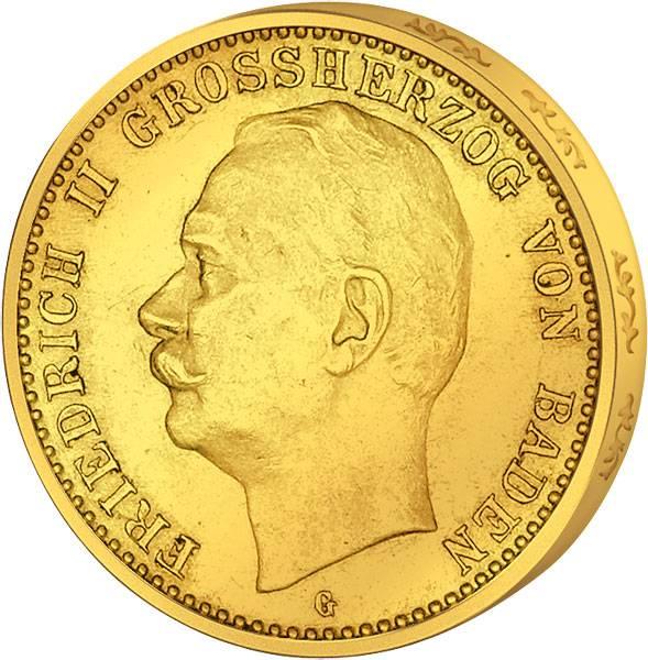 20 Mark Sachsen Friedrich II. 1911-1914 Sehr schön
