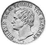 Taler Johann Silber 1855-1856 ss-vz