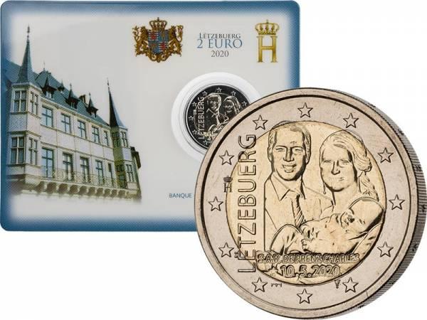 2 Euro Luxemburg Geburt Prinz Charles 2020