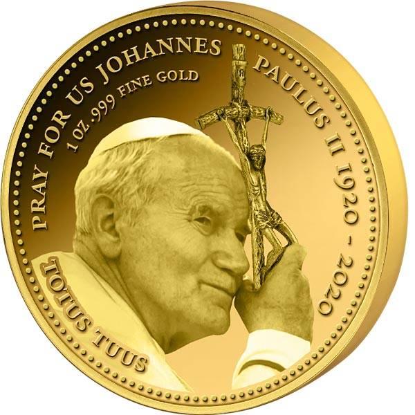 100 Francs Kongo Johannes Paul II. mit Ferula 2020
