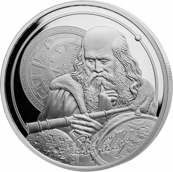 1 Unze Silber Niue Galileo 2021