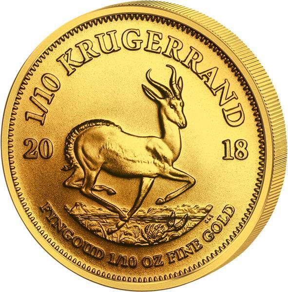 1/10 Unze Gold Südafrika Krügerrand 2018