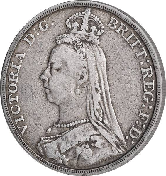 1 Crown Großbritannien Queen Victoria 1887-1892