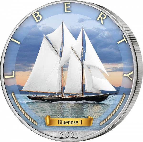 1 Dollar USA Bluenose 2 2021