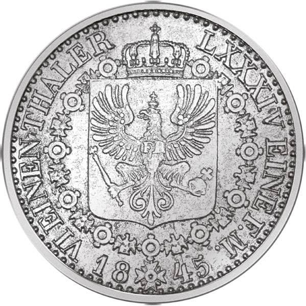 1/6 Taler Preußen König Friedrich Wilhelm IV.