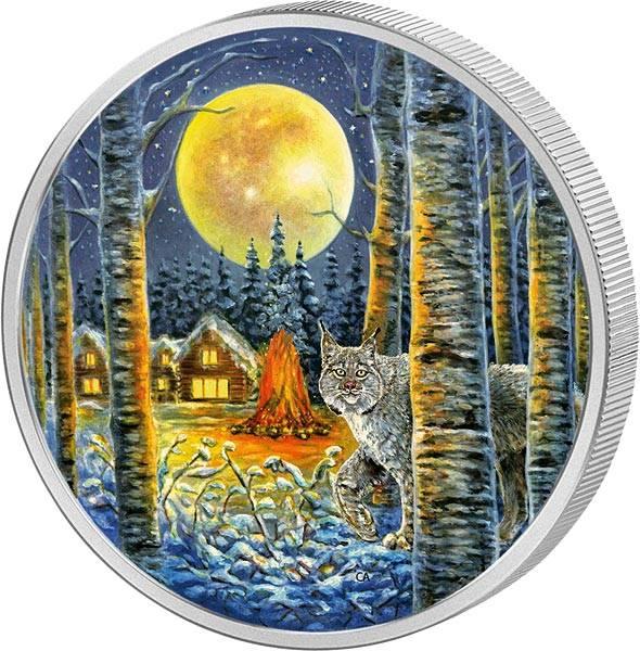 30 Dollars Kanada Tiere im Mondlicht - Luchs 2017
