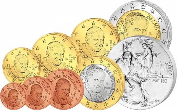 Euro-Kursmünzensatz Vatikan 2006 inkl. Gedenkprägung