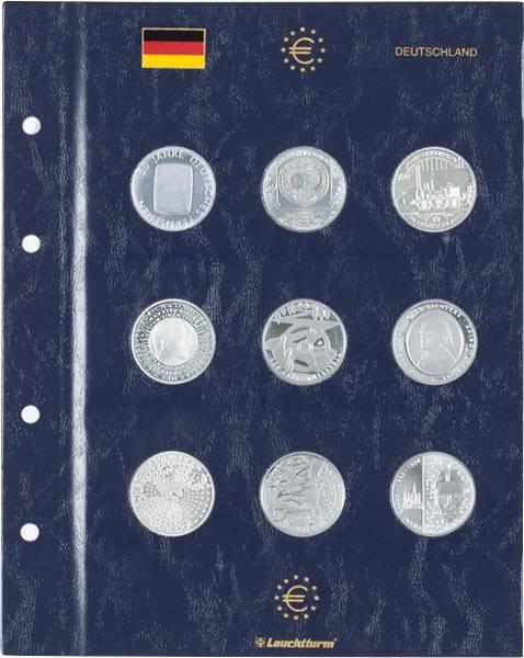 Euro-Münzblätter für 10 + 20 und 25 Euro Gedenkmünzen
