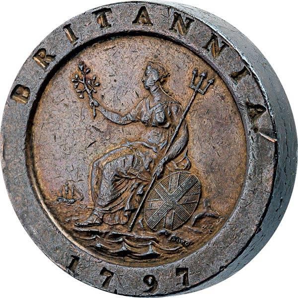 2 Pence Großbritannien Cartwheel König Georg III. 1797