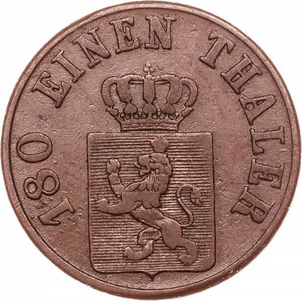2 Heller Hessen-Kassel Kurfürst Wilhelm II. und Friedrich Wilhelm 1843