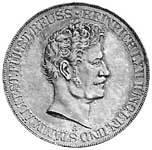 Taler Doppeltaler Heinrich LXII. 1840-1854 Vorzüglich