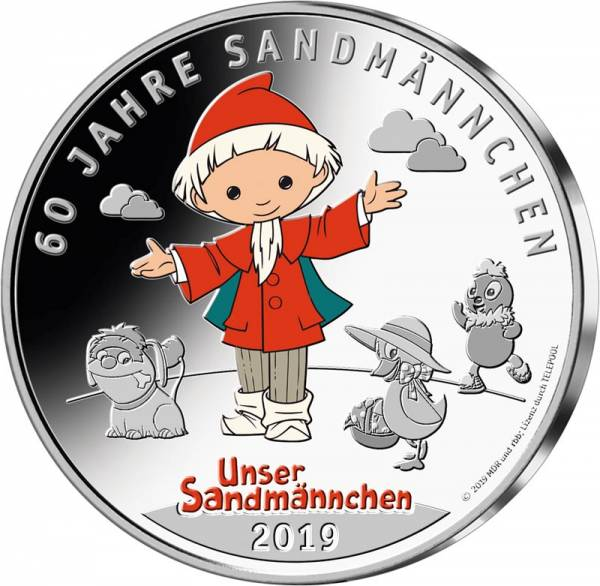 Gedenkprägung Sandmännchen