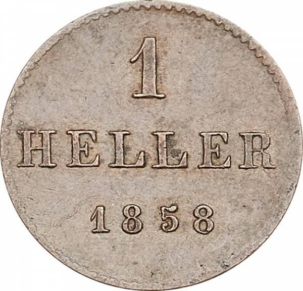 1 Heller Freie Reichsstadt Frankfurt 1852-1858