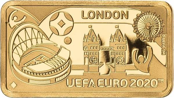 1 Pound Gibralta Fußball Europameisterschaft  London 2020