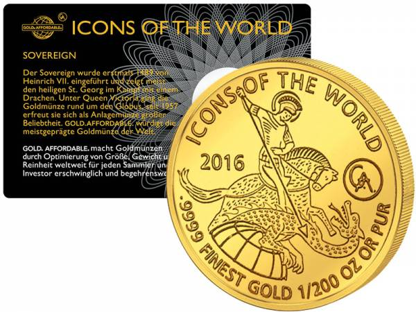 1/200 Unze Gold Ruanda Sovereign 2016