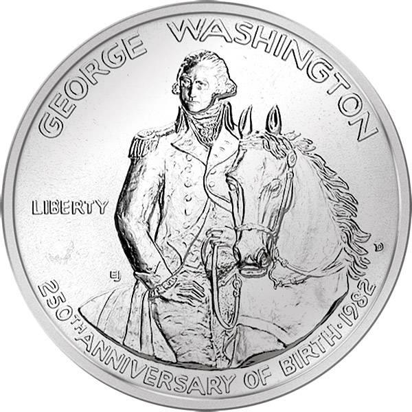 1/2 Dollar USA Washington 1982