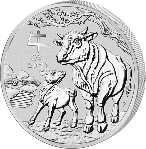 2 Unzen Silber Australien Jahr des Ochsen 2021